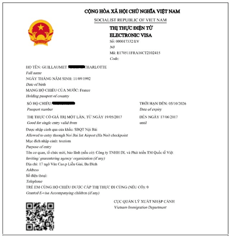 Vietnam Visa Forms And Sample Downloads