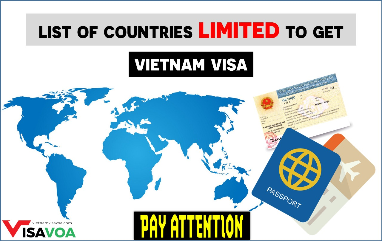 List of countries restricted to Vietnam visa