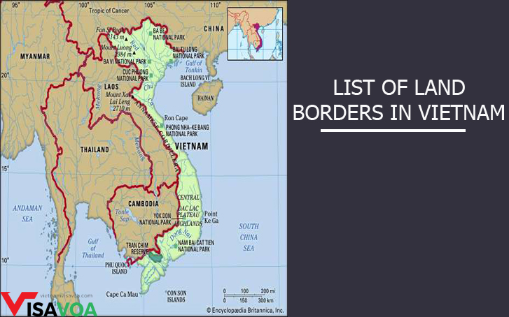 Vietnam land borders crossing to obtain Vietnam visa