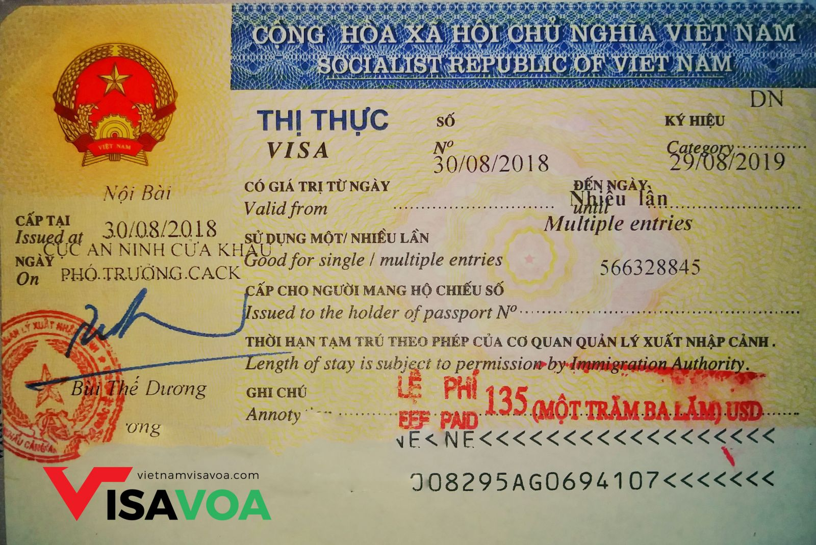 Long term Vietnam visa for US passport holders 2019