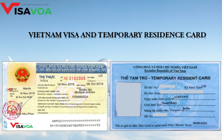Vietnam visa and Temporary residence card