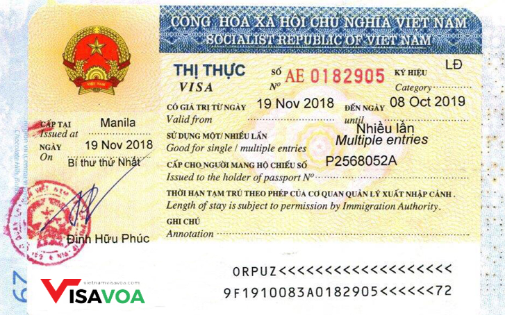 VIETNAM WORKING VISA